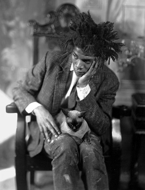 basquiat with cat
